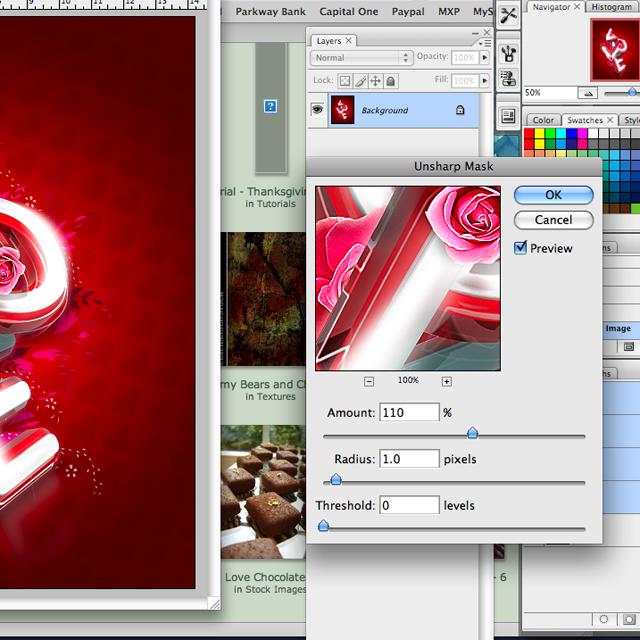Picture%252039 Thiết Kế Chữ 3D Photoshop: Lễ Tình Yêu