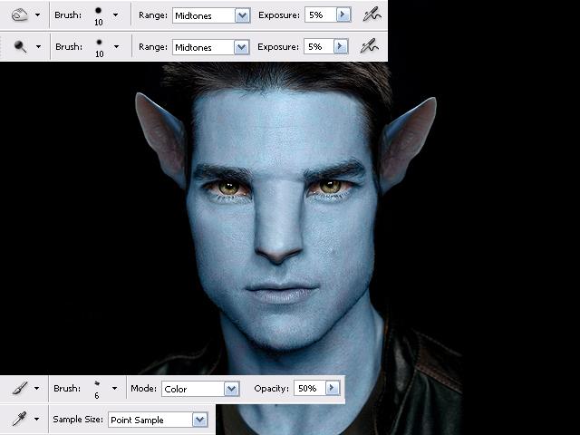 image09 Thiết Kế Nhân Vật Navi Avatar trong Photoshop
