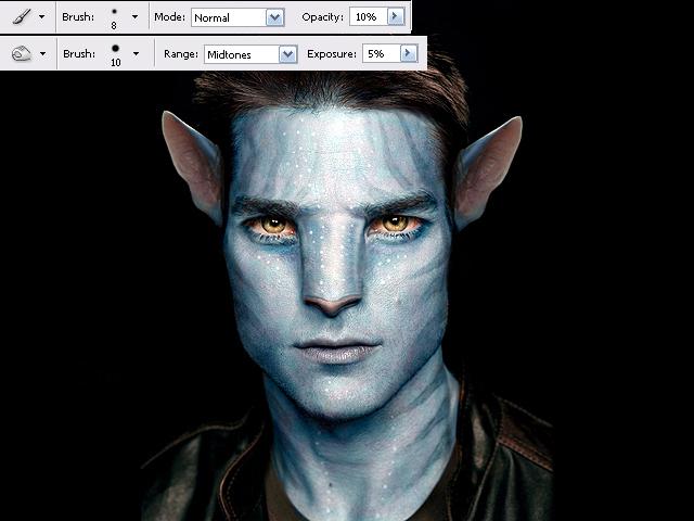 image12 Thiết Kế Nhân Vật Navi Avatar trong Photoshop